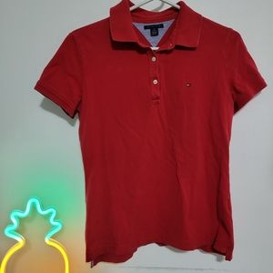 Tommy hilfinger Women's red polo shirt